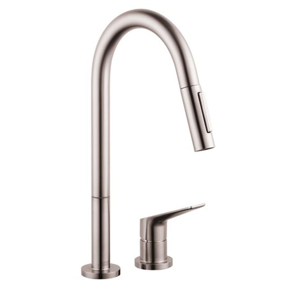Bathroom Sink Faucets Single Hole Steel Deluxe Vanity Kitchen