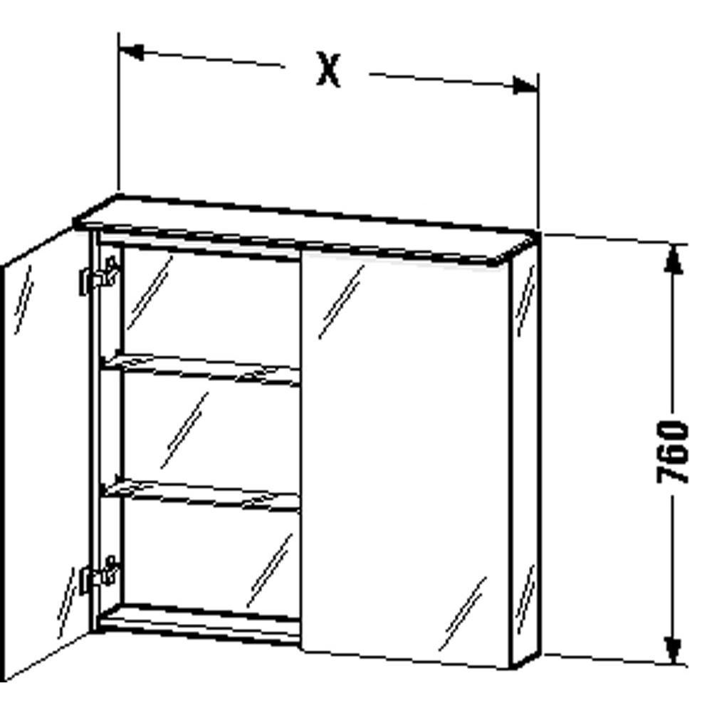 Duravit Bathroom Medicine Cabinets | Deluxe Vanity & Kitchen - Van ...