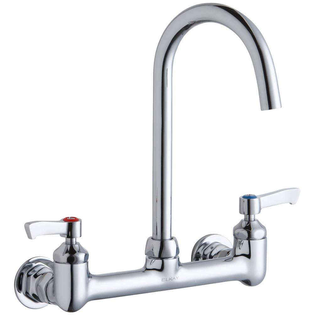 Wall Mount Utility Faucet With SprayerCenterset 2handle