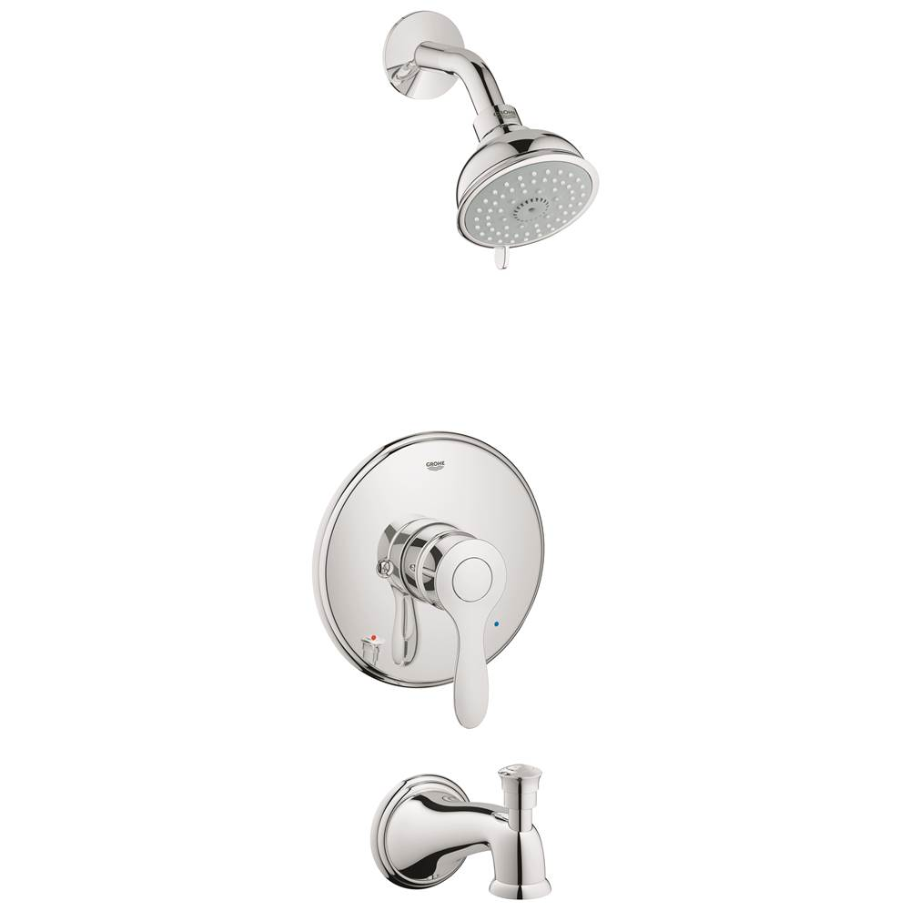 198 10 258 30 35040000 · grohe parkfield single handle 4 spray tub and shower faucet combination