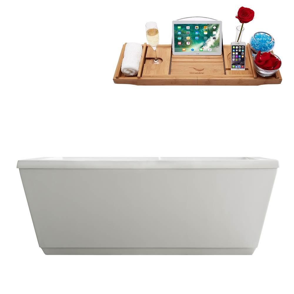 Best Freestanding Tubs 2020 Streamline Bath M 2020 67FSWH DM at Deluxe Vanity & Kitchen